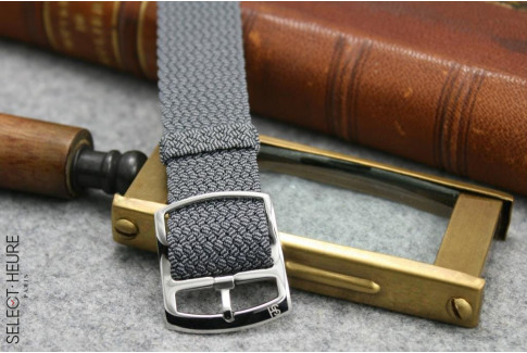 Select'Heure Grey braided Perlon watch strap