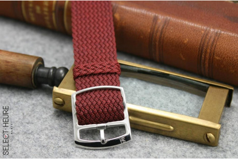 Select'Heure Burgundy Red braided Perlon watch strap
