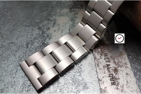 Bracelet montre Super Oyster en acier inox massif, boucle déployante avec sécurité (18, 20, 22 & 24 mm)