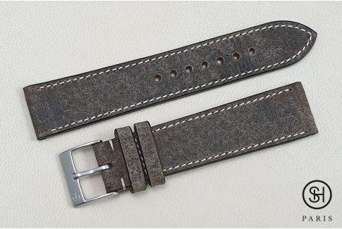 Bracelet montre cuir Motown SELECT-HEURE Roche (fait main)
