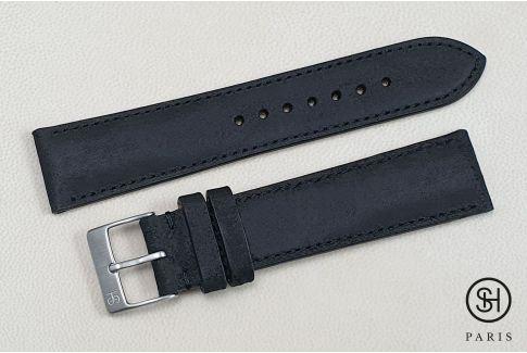 Bracelet montre cuir Motown SELECT-HEURE Granite (fait main)