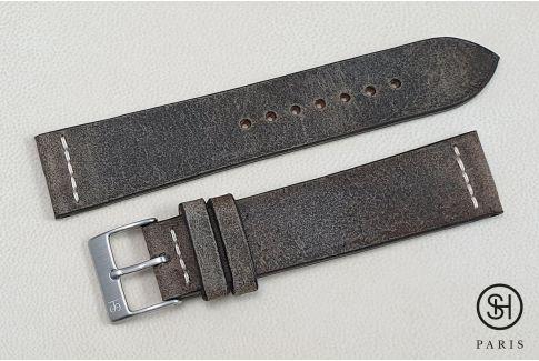 Bracelet montre cuir Motown SELECT-HEURE Roche Vintage (fait main)