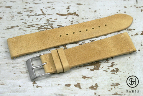 Honey Vintage SH leather watch strap with quick release spring bars (interchangeable)