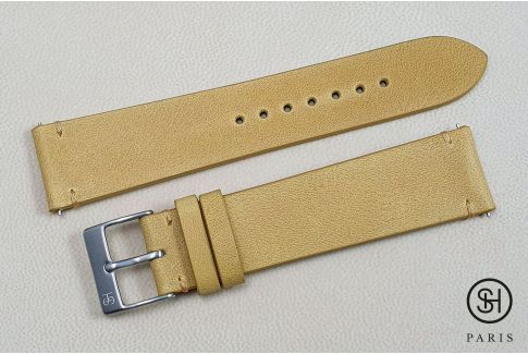 Honey Vintage SELECT-HEURE leather watch strap with quick release spring bars (interchangeable)