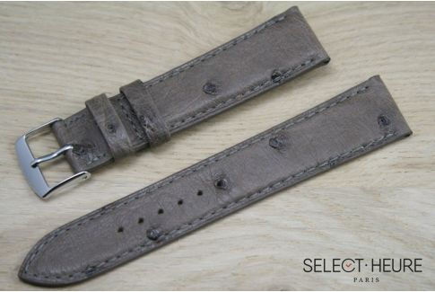 Taupe genuine Ostrich SELECT-HEURE leather watch band