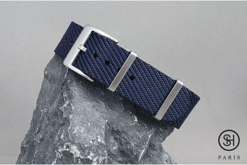 Bracelet montre Nylon Sergé SELECT-HEURE Noir Bleu