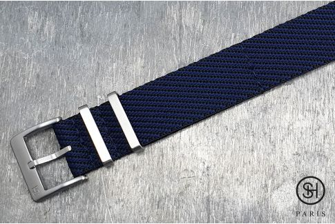 Black Blue Serge SELECT-HEURE nylon watch strap