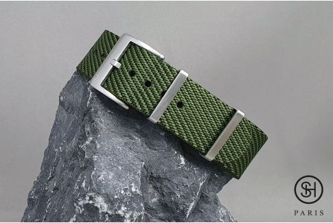 Kaki Green Serge SELECT-HEURE nylon watch strap