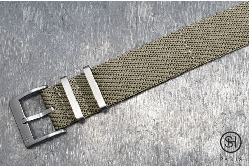 Beige Serge SELECT-HEURE nylon watch strap
