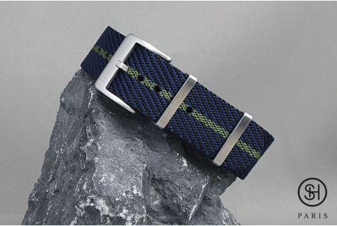 Bracelet montre Nylon Sergé SELECT-HEURE Noir Bleu Vert Kaki