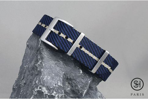 Black Blue Beige Serge SELECT-HEURE nylon watch strap