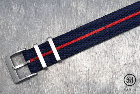 Black Blue Red Serge SELECT-HEURE nylon watch strap