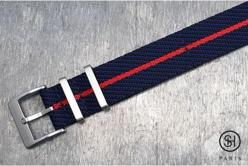 Bracelet montre Nylon Sergé SELECT-HEURE Noir Bleu Rouge