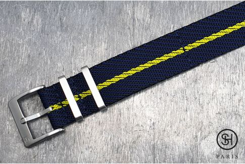 Black Blue Yellow Serge SELECT-HEURE nylon watch strap