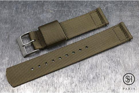 Bracelet montre US Military 2 pièces SELECT-HEURE Marron Bronze avec pompes rapides (interchangeable)