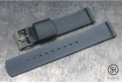 Grey SELECT-HEURE 2 pieces US Military watch strap with quick release spring bars (interchangeable)