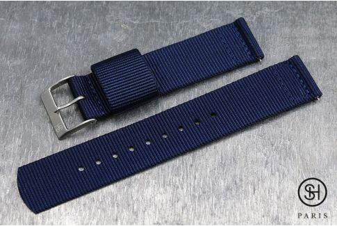 Bracelet montre US Military 2 pièces SELECT-HEURE Bleu Nuit avec pompes rapides (interchangeable)