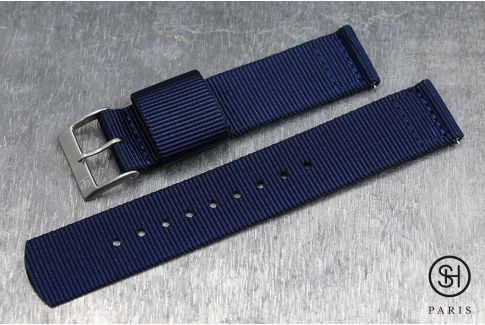 Night Blue SELECT-HEURE 2 pieces US Military watch strap with quick release spring bars (interchangeable)
