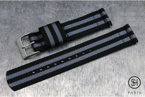 Bracelet montre US Military 2 pièces SELECT-HEURE Bond Craig avec pompes rapides (interchangeable)