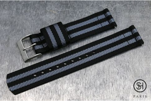 Craig Bond SELECT-HEURE 2 pieces US Military watch strap with quick release spring bars (interchangeable)