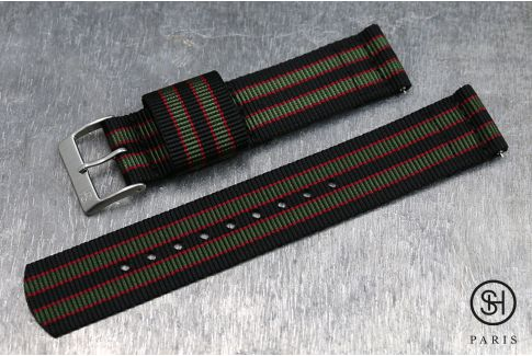 Original Bond SELECT-HEURE 2 pieces US Military watch strap with quick release spring bars (interchangeable)