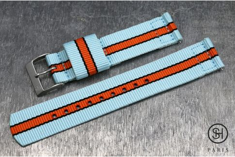 Gulf / Le Mans SELECT-HEURE 2 pieces US Military watch strap with quick release spring bars (interchangeable)