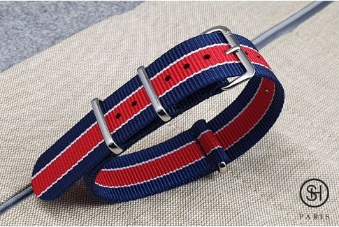 - Paris - SELECT-HEURE nylon NATO watch strap, stainless steel unremovable buckle