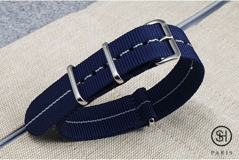 - New York - SELECT-HEURE nylon NATO watch strap, stainless steel unremovable buckle