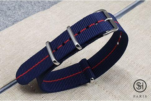 Bracelet montre NATO nylon SELECT-HEURE - Milan -, boucle indémontable en acier inox