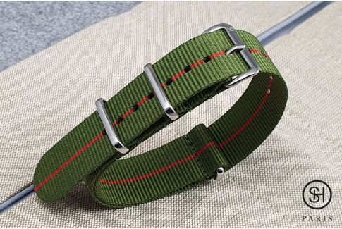- Berlin - SELECT-HEURE nylon NATO watch strap, stainless steel unremovable buckle