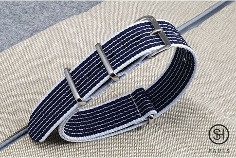 - Helsinki - SELECT-HEURE nylon NATO watch strap, stainless steel unremovable buckle