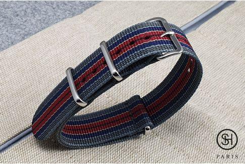 Bracelet montre NATO nylon SELECT-HEURE - Edimbourg -, boucle indémontable en acier inox