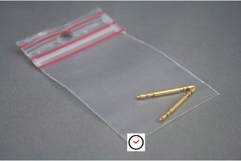 2 barrettes (pompes) double sécurité dorées spéciales fortes
