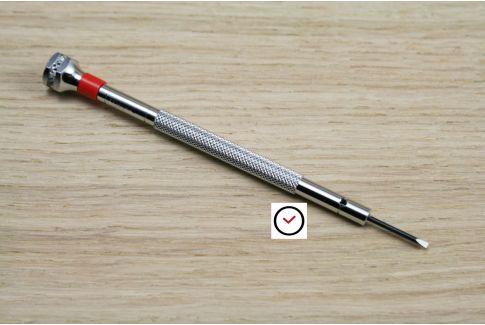 Tournevis horloger professionnel 1.2 mm, tête roulement à bille