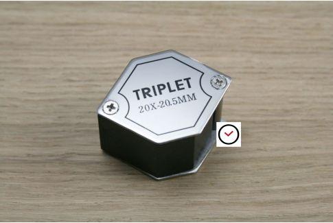 """Loupe Triplet de poche x20 type """"diamantaire"""""""