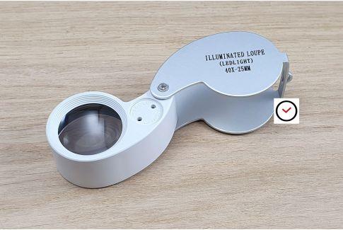 LED lighting pocket Triplet magnifier x40