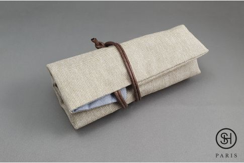 Canvas SELECT-HEURE travel strap roll (for watch straps + 1 watch)