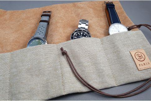 Marmotte SELECT-HEURE en toile pour montres (à enrouler ou à plier), pour tout diamètre de montres