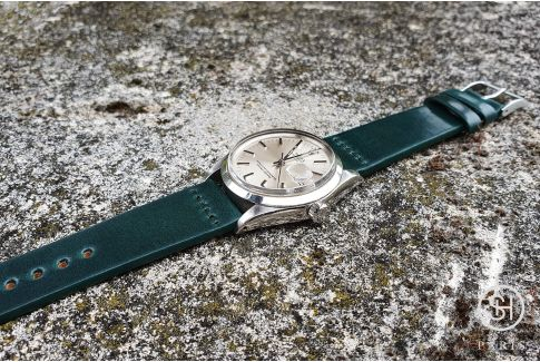 Green Horween Shell Cordovan SELECT-HEURE leather watch strap (handmade)