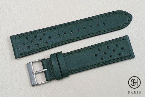 Bracelet montre cuir Rallye SELECT-HEURE Vert Empire avec pompes rapides (interchangeable)