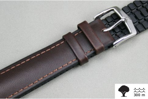 Bracelet montre HIRSCH James Marron (étanche)