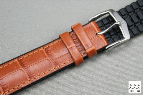 Bracelet montre HIRSCH Paul Marron Miel (étanche)