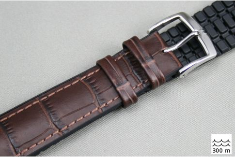 Bracelet montre HIRSCH Paul Marron (étanche)