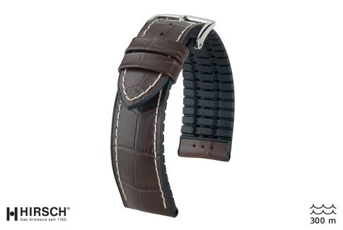 Brown George HIRSCH watch bracelet (waterproof)