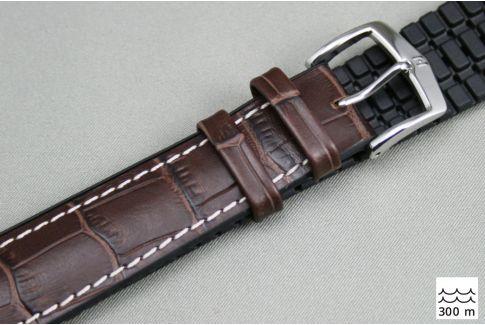 Bracelet montre HIRSCH George Marron (étanche)