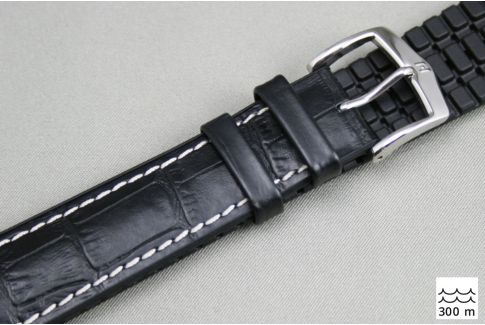 Black George HIRSCH watch bracelet (waterproof)