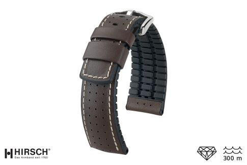 Brown Tiger HIRSCH watch bracelet (waterproof)
