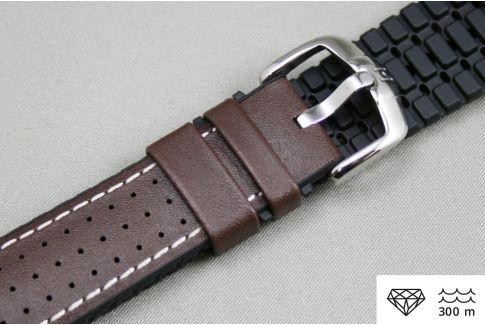 Bracelet montre HIRSCH Tiger Marron (étanche)