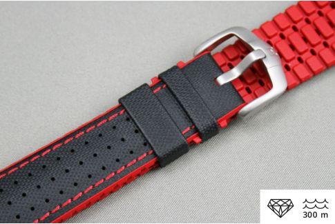 Bracelet montre HIRSCH Robby Noir Rouge (étanche)