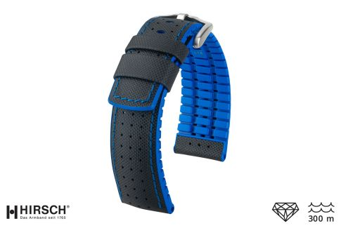 Black Blue Robby HIRSCH watch bracelet (waterproof)